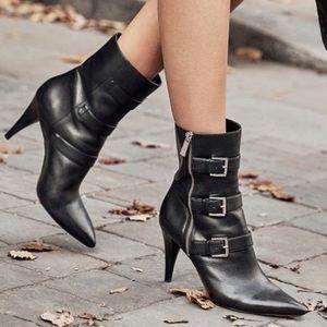 New Michael Kors Lori Mid-Calf Leather Boots